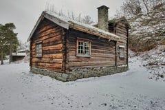 Sverresborg het etnografische dorp Stock Foto's
