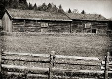 Sverresborg historical Farm houses Royalty Free Stock Image