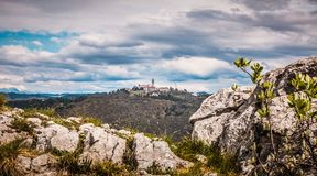 Sveta Gora Holy Moutain Monte Santo, Nova Gorica royaltyfria foton
