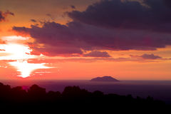 Svetac Island from Vis, Croatia. Svetac Island at sunset from Vis, Croatia stock image