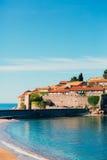Sveti斯蒂芬,海岛的特写镜头海岛下午 免版税库存照片