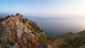 Sveti科列夫,赫瓦尔岛海岛,达尔马提亚,克罗地亚 库存照片