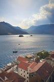 Sveti Dorde e la nostra signora delle rocce, Montenegro Fotografia Stock Libera da Diritti