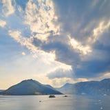 Sveti Dorde i Nasz skały dama, Montenegro Zdjęcie Stock