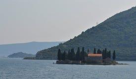 Sveti Dorde - Perast -科托尔 库存图片