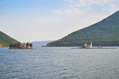 Sveti Drode and Our Lady of the Rocks from Perast, Montenegro Royalty Free Stock Photo
