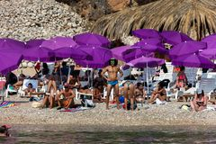 Sveti Jakov Beach dans Dubrovnik photo stock