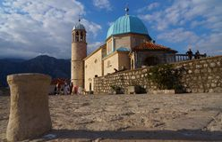 Sveti Juraj church, Montenegro royalty free stock photos