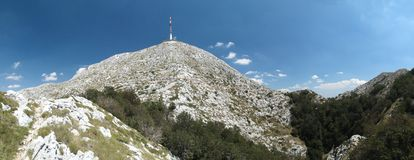 Sveti Jure - highest mountain of Biokovo. Above Makarska rivieata in Croatia Stock Images
