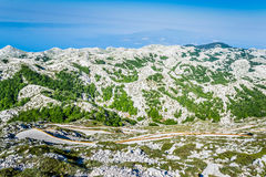 Sveti Jure Mountain. Mountain Sveti Jure is the highest peak at Biokova 1762 m, which is locate about 25 km from Makarska. There is a road to the top, through Stock Photography