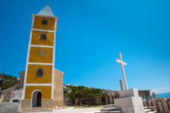 Sveti Jurje church front view and cementery in Baska - Krk Croat Royalty Free Stock Photos