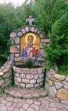 Sveti Nikola, antieke orthodoxe verf genoemd pictogram, Servië royalty-vrije stock afbeelding