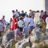 Sveti Nikola highest peak on the island of Hvar Royalty Free Stock Photo