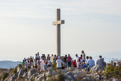 Sveti Nikola highest peak on the island of Hvar Royalty Free Stock Images
