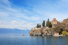 Sveti (Saint) Jovan Kaneo Church on Lake Ohrid, Macedonia Royalty Free Stock Image