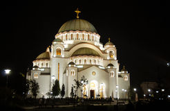Sveti Sava cathedral in Belgrade Stock Image