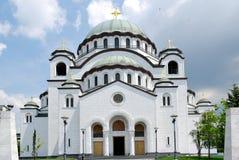 Sveti Sava ortodoxa kyrkliga Belgrade Royaltyfria Foton