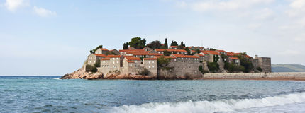 Sveti Stefan海岛在Montenegro 免版税库存照片
