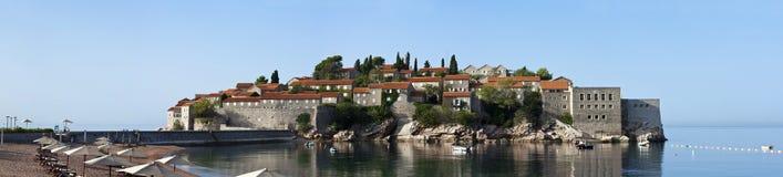 Sveti stefan海岛度假村在montenegro 库存图片