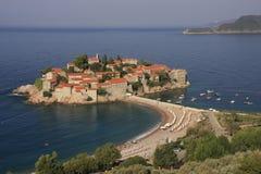 Sveti Stefan海岛, Montenegro,巴尔干 免版税库存图片