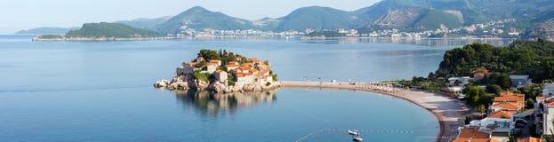 Sveti Stefan海运小岛(Montenegro) 免版税库存照片