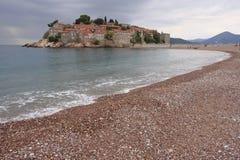 Sveti Stefan ö, Montenegro Fotografering för Bildbyråer