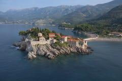 Sveti Stefan immagini stock libere da diritti