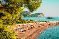 Sveti Stefan beach Royalty Free Stock Image