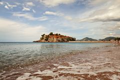 Sveti Stefan beach Royalty Free Stock Images