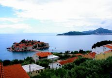 Sveti Stefan and Budva Royalty Free Stock Photos