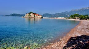 Sveti Stefan, Budva, Montenegro Royaltyfri Bild