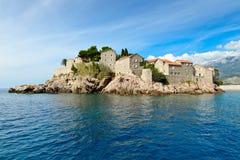 Sveti Stefan, Budva Riviera, Montenegro Stockbilder