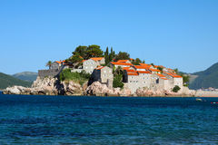 Sveti Stefan in daylight Royalty Free Stock Images