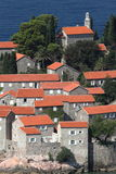 Sveti Stefan downtown Stock Image