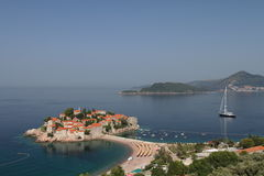 Sveti Stefan downtown Royalty Free Stock Image