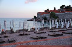The Sveti Stefan fortified village in Montenegro Royalty Free Stock Photography