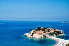 Sveti Stefan Insel in Budva, Montenegro Stockbilder