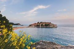 Sveti Stefan Insel in Montenegro Stockfoto
