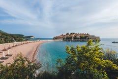 Sveti Stefan Insel in Montenegro Lizenzfreie Stockbilder