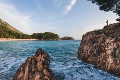 Sveti Stefan Insel in Montenegro Lizenzfreies Stockfoto