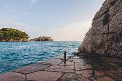 Sveti Stefan Insel in Montenegro Stockbilder