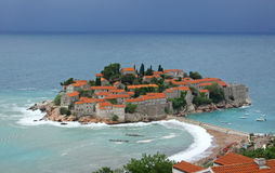 Sveti Stefan island Royalty Free Stock Images