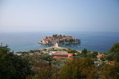 Sveti Stefan island Stock Photos
