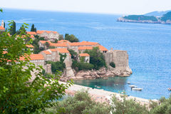 Sveti Stefan island Stock Photo