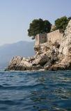 Sveti Stefan island. View of coastline Sveti Stefan island (Montenegro Stock Photography