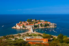 Sveti Stefan island. Adriatic sea.  Montenegro. Royalty Free Stock Images