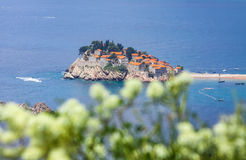 Sveti Stefan island, Adriatic sea, Montenegro Stock Images