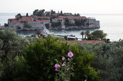 Sveti Stefan island in Budva Stock Images
