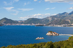 Sveti Stefan island in Budva Royalty Free Stock Images