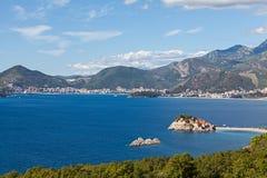 Sveti Stefan island in Budva. Montenegro Royalty Free Stock Images